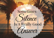 Sometimes Silence is A Really Good Answer - Meditation Quotes